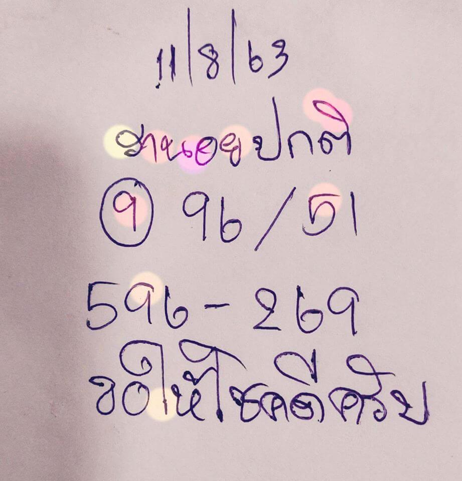 แนวทางหวยฮานอย 11/8/63 ชุดที่3