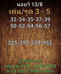 แนวทางหวยฮานอย 13/8/63 ชุดที่3