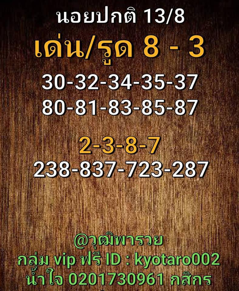 แนวทางหวยฮานอย 13/8/63 ชุดที่4