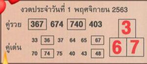 ผลงานหวยคู่รวยคู่เด่น 1/11/63