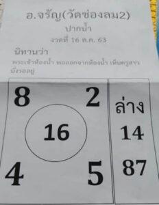 หวยอาจารย์จรัญ 16/10/63