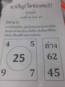 หวยอาจารย์จรัญ 16/11/63