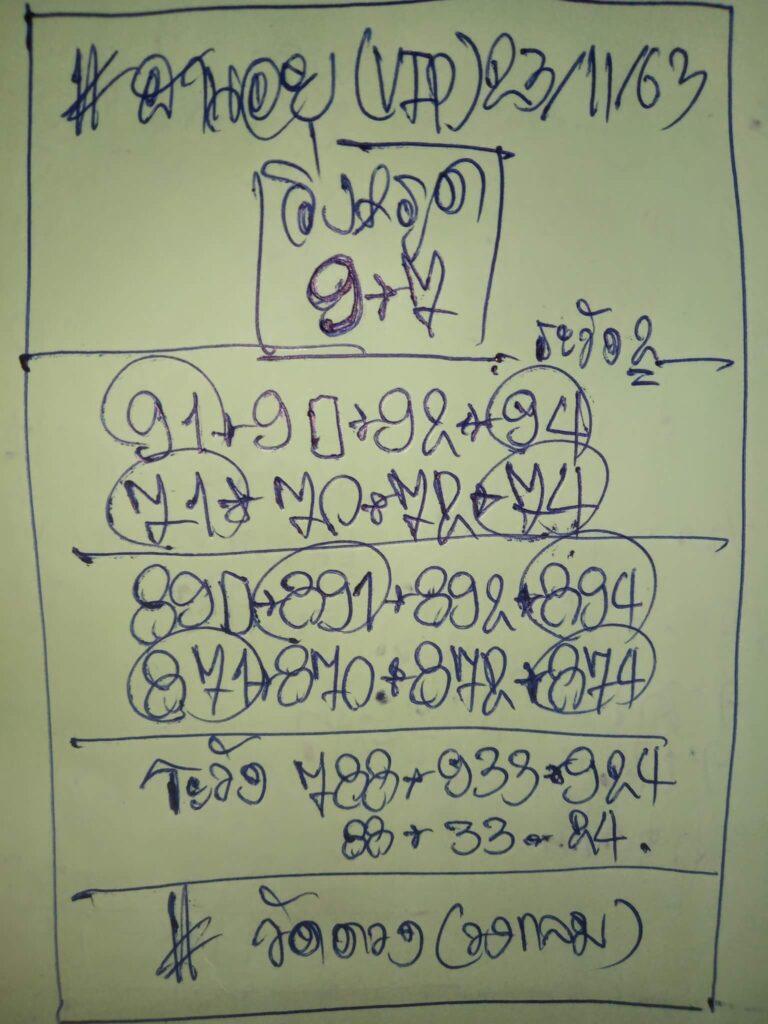 แนวทางหวยฮานอย 24/11/63 ชุดที่12