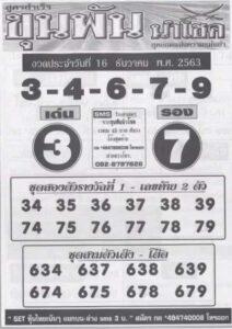 หวยขุนพันนำโชค 16/12/63