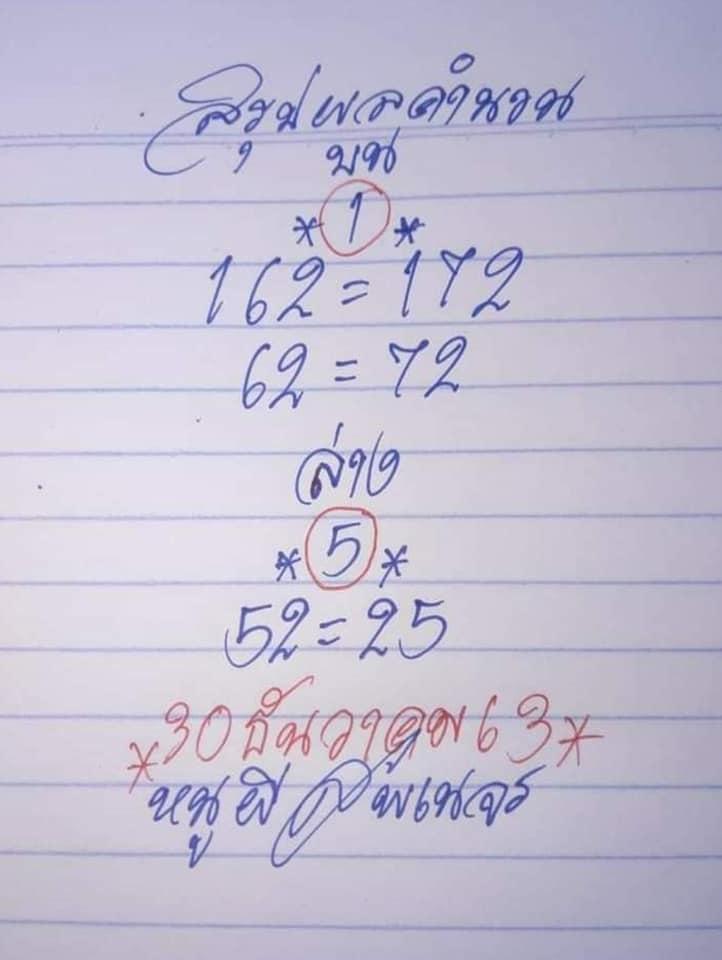 หวยหนูผีพเนจร 30/12/63