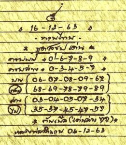 หวยหลวงพ่อเงิน 16/12/63