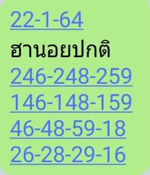 แนวทางหวยฮานอย 23/1/64 ชุดที่6
