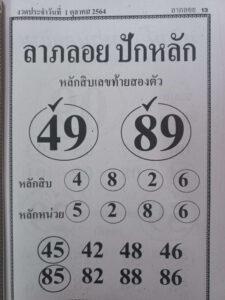 หวยลาภลอยปักหลัก1/10/64