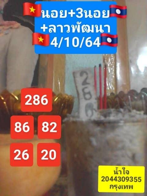 แนวทางหวยฮานอย4/10/64ชุดที่4